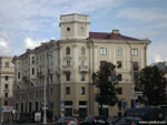 Минск: угловой дом на Комсомольской и проспекте Независимости.
