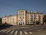 Минск: угловой дом на улице Олега Кошевого.