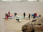 Ла-Корунья: местные серферы.