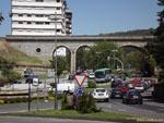 Оренсе: зелёная развязка и железнодорожный мост.