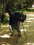 Вальядолид: немного задержавшийся фотограф в парке.